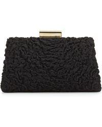 Jason Wu Christy Astrakhan Fur Pochette Bag black - Lyst