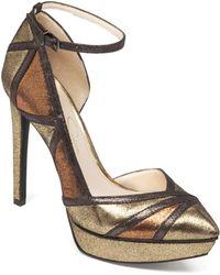 Jessica Simpson Gold Vindie Pumps - Lyst