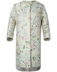 Giambattista Valli Floral Print Oversized Coat - Lyst