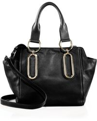 See By Chloé Paige Leather Satchel black - Lyst