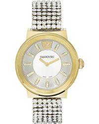 Swarovski Womens Swiss Piazza Clear Crystal Mesh Bracelet 36mm - Lyst