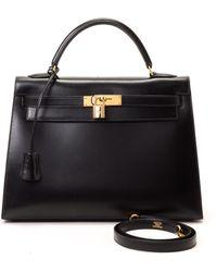 Hermès HermãˆS Black Leather Handbag black - Lyst