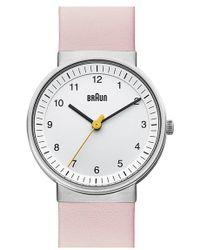 Braun - 'classic' Strap Watch - Lyst