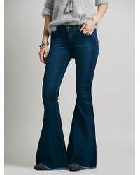 Free People Denim Super Flare - Lyst