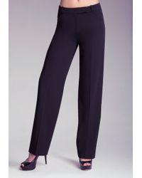 Bebe Wide Leg Pants - Lyst