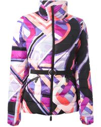 Emilio Pucci Padded Abstract Print Jacket - Lyst