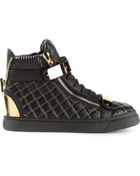 Giuseppe Zanotti Quilted Hitop Sneakers - Lyst