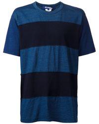 Comme des Garçons Striped T-Shirt blue - Lyst