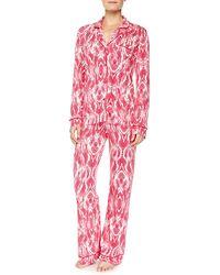 Cosabella Bella Marquise-print Long-sleeve Pajama Set - Lyst