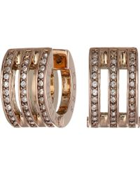 Michael Kors Collection Pave Huggie Earring - Lyst