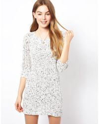 By Zoé Textured Jumper Dress - Lyst