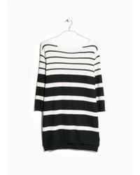 Violeta by Mango Striped Sweater - Lyst