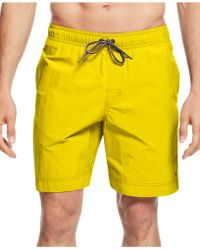 Tommy Hilfiger Core The Tommy Swim Trunks yellow - Lyst