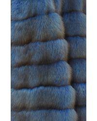 Helen Yarmak International Blue Reversible Barguzine Sable Coat