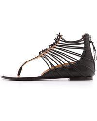 L.A.M.B. - Reagon Strappy Flat Sandals  - Lyst