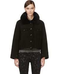 Acne Studios Shearling Move Pre Cropped Jacket - Lyst