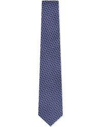 Lanvin Patterned Silk Tie Navy - Lyst