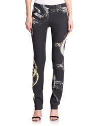 Just Cavalli Snake-Print Skinny Pants black - Lyst