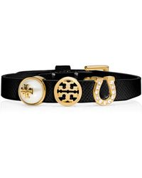 Tory Burch Lucia Initial Charm Bracelet - Lyst