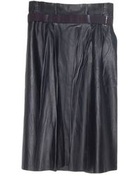 By Malene Birger Lollu Leather Skirt - Lyst