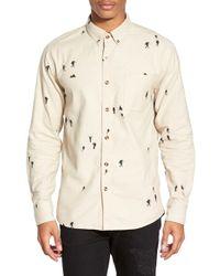 Altru - 'hikers' Trim Fit Print Brushed Woven Shirt - Lyst