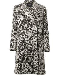 Lanvin Animal Zebra Coat - Lyst