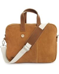 Faguo Suede Tobacco Leather Bag - Lyst