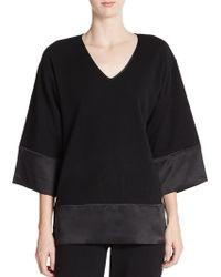 Josie Natori - Cashmere & Silk Kimono-sleeve Sweatshirt - Lyst