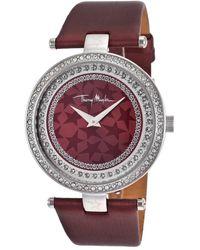 Thierry Mugler Womens Burgundy Genuine Leather Burgundy Dial - Lyst