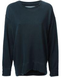 Raquel Allegra Black Distressed Sweatshirt - Lyst