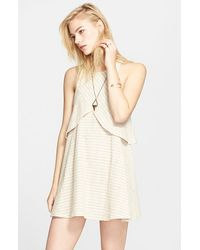 Free People 'Novelty Blue Sapphire' Sleeveless Dress - Lyst