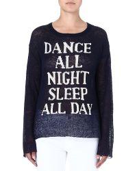 Wildfox Dance All Night Jumper Navy - Lyst