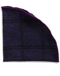 Alexander Olch - Plaid Wool Pocket Round - Purple - Lyst