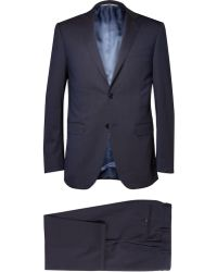 Canali Navy Wool Travel Suit - Lyst