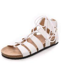 Loeffler Randall Pascal Gladiator Sandals - White - Lyst