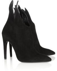 Bottega Veneta Suede Ankle Boots - Lyst