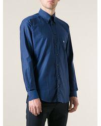 Etro Chevron Jacquard Pattern Shirt - Lyst
