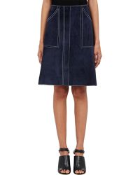 Derek Lam Suede A-Line Skirt - Lyst
