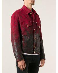 Versace Waxed Denim Jacket - Lyst