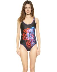 We Are Handsome The Shadow Scoop One Piece Swimsuit  - Lyst