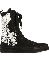 Ann Demeulemeester Flower Hi-Top Sneakers - Lyst