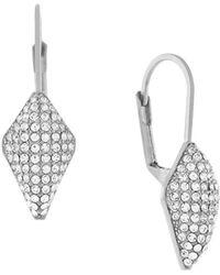 Cole Haan - Diamond-shaped Drop Earrings, Silvertone - Lyst