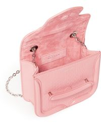 Alexander McQueen 'Heroine' Mini Chain Leather Crossbody Bag pink - Lyst
