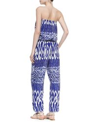 Tommy Bahama - Printed Strapless Bandeau Jumpsuit - Lyst
