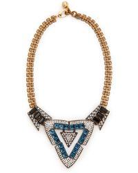 Lulu Frost Emergence Necklace Blue Multi - Lyst