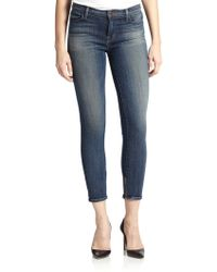 J Brand High-Rise Cropped Jeans - Lyst