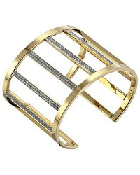 Michael Kors Collection Open Pave Statement Cuff - Lyst
