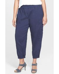 Eileen Fisher Ankle Cargo Pants - Lyst