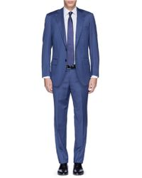 Tomorrowland Herringbone Weave Wool Suit - Lyst