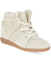 Isabel Marant Bobby Suede Wedge Trainers - For Women - Lyst